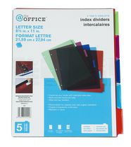 5 tab index dividers
