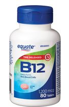 Equate Time Release Vitamin B12, 1200 mcg