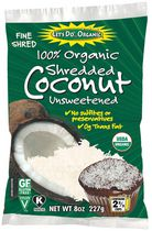 Let's Do Organic - Unsweetened Shredded Coconut, 227 g