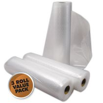 Weston Vacuum Bag Rolls - 8 in x 22 ft (3 count)