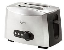 Betty Crocker 2-Slice Multi-Function Stainless Steel Toaster
