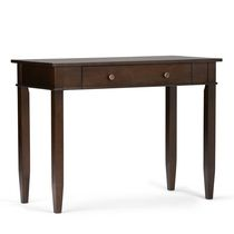 Richland 42 inch wide Office Desk in Tobacco Brown