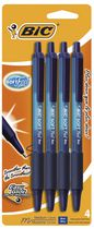 BIC® Softfeel Retractable Pen Blue 4 Pack