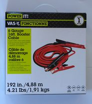 Power IT 6GA Booster Cable