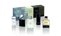 Giorgio Armani Code 4 ml Eau De Toilette + Acqua Di Gio 5 ml Eau De Toilette + Attitude 5 ml Eau De Toilette + Armani Diamonds 4 ml -Mini Set For Men