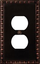 Atron Electro Industries Beading Oil Rubbed Bronze Duplex Wall Plate