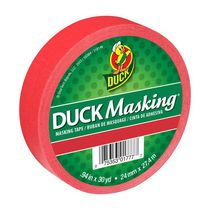 Duck Brand Masking Color Tape - Red