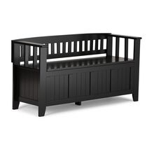 WyndenHall Normandy Entryway Storage Bench Black
