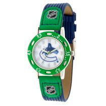 Youth NHL Vancouver Canucks Blue Ribbed Strap Analog Watch
