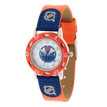 Youth NHL Edmonton Oilers Orange Ribbed Strap Analog Watch