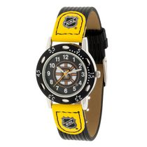 Youth NHL Boston Bruins Black Ribbed Strap Analog Watch