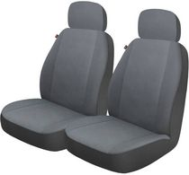 Who-Rae Hudson Seat Cover - Pair, Gray