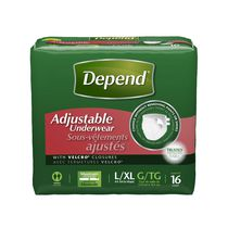 Depend Sous-vêtement ajustable, absorption maximale, Grand/Très grand