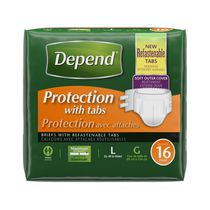 Protection d'incontinence avec attaches à absorption maximale de Depend