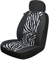 Who-Rae Zebra Panel Seat Cover, Black