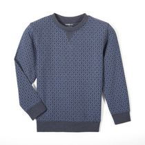 George Boys' Graphic Pullover French Terry Top Blue 6