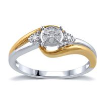 0.10 Ct.T.W. Diamond Promise Ring in Sterling Silver