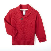 George baby Boys' Shawl Collar Sweater Red 18-24 months