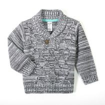 George baby Boys' Shawl Collar Sweater Gray 18-24 months