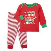 George Baby Boys' 2-Piece Christmas Pyjama Set Red 6-12 months