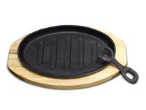 EMF Cast Iron Plate - With Pick & Wooden Platter