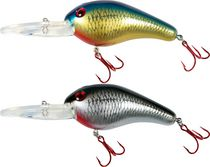 Glo-Pro Deep Dive Lures With Glo Sticks, Pack of 2 - Silver/Black & Gold/Blue