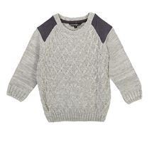 George Toddler Boys' Cable Knit Sweater Gray 2T