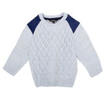 George Toddler Boys' Cable Knit Sweater Blue 3T