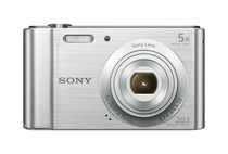 Sony DSCW800SM Point & Shoot Digital Camera - Silver