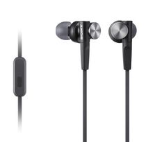Sony Extra Bass Earbud Headphones with Microphone, MDRXB50 Black