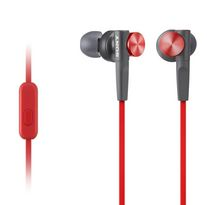 Sony Extra Bass Earbud Headphones with Microphone, MDRXB50 Red