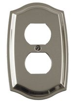 Atron Electro Industries Colonial Satin Nickel Duplex Wall Plate