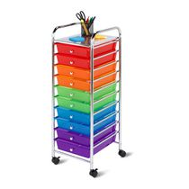Honey-Can-Do 10-Drawer Multicolor Storage Cart