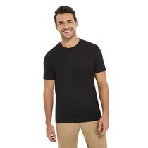 George Men's Short Sleeved Crewneck Cotton Tee Black XL/TG
