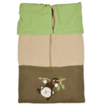 Cuddle Care Stroller Blanket - Monkey