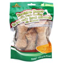 Meatyway Rawhide Bones Duck Coating Dog Snacks