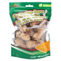 Meatyway Mini Rawhide Bones Duck Coating Dog Treats