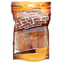 Meatyway Mini Rawhide Bones Yam & Chicken Coating Dog Snack