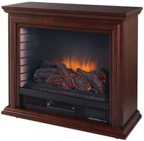 Pleasant Hearth Sheridan Mobile Fireplace, Cherry