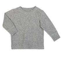 George baby Boys' Long Sleeved Cotton Blend Waffle Top Light Gray 3-6 months