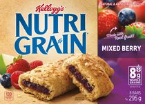 Kellogg's Nutri-Grain Cereal Bars 295g - Mixed Berry, 8 bars