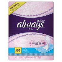 Always Thin Regular Unscented Pantiliners