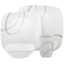 Corelle ® Square™ 16 Piece Sand & Sky Dinnerware Set