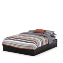 South Shore Vito Queen Mates Bed (60'') with 2 Drawers Black
