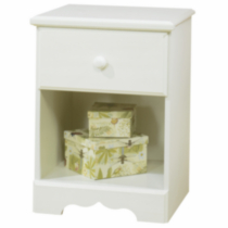 South Shore Summer Breeze 1-Drawer Night Stand White