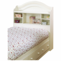 "South Shore Summer Breeze Twin Bookcase Headboard (39"") White"