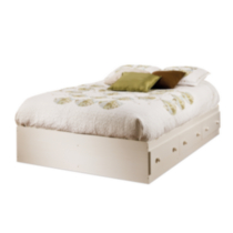 South Shore Summer Breeze Collection Full Size Mates Bed White
