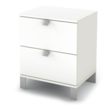 South Shore Spark 2-Drawer Night Stand White
