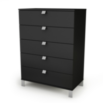 South Shore Spark 5-Drawer Chest Black