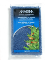 """Marina Blue Decorative Aquarium Gravel, 2kg (4.4 lb)"